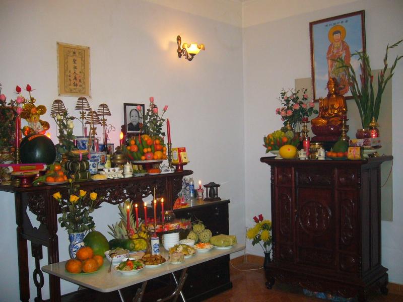 Bàn thờ Phật tại nhà chọn đồ thờ