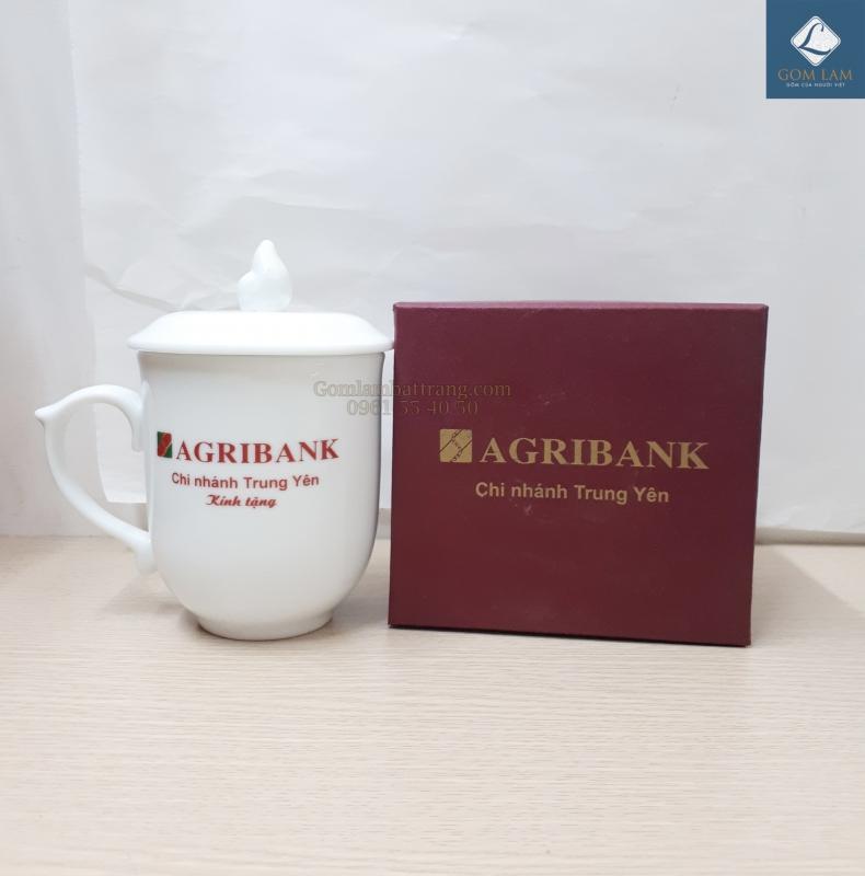 Bộ cốc sứ Bát Tràng in logo Agribank