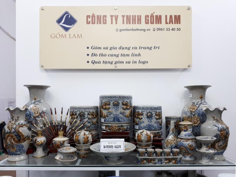 Đồ thờ cúng Gốm Lam Bát Tràng