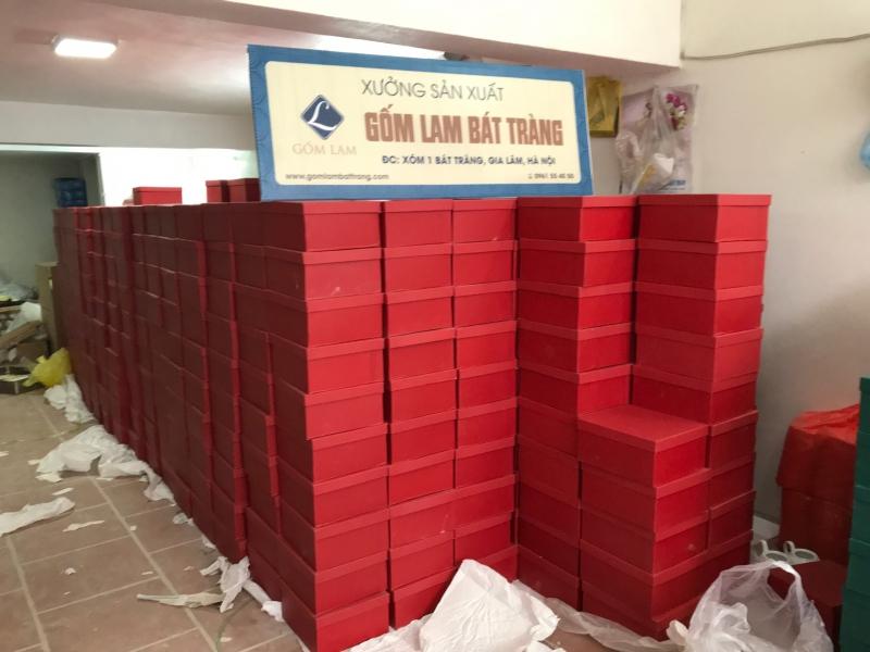 Gốm Lam mở rộng sản xuất quà tặng gốm sứ
