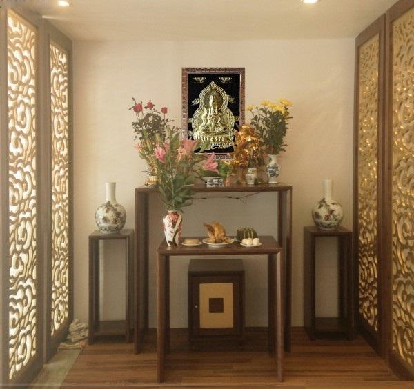 Cách bài trí bàn thờ Phật tại gia