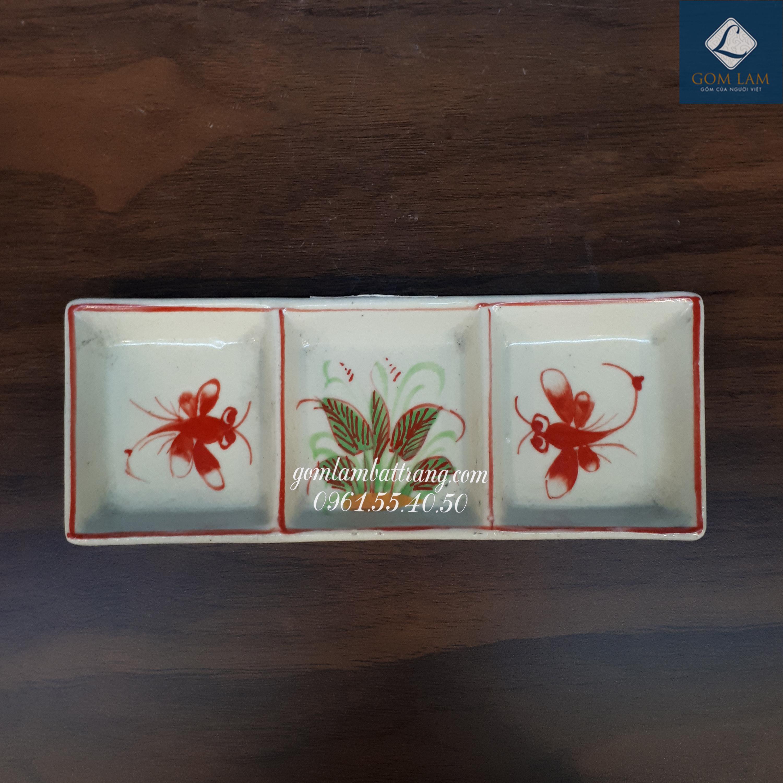Khay gia vị 3 ngăn chuồn đỏ