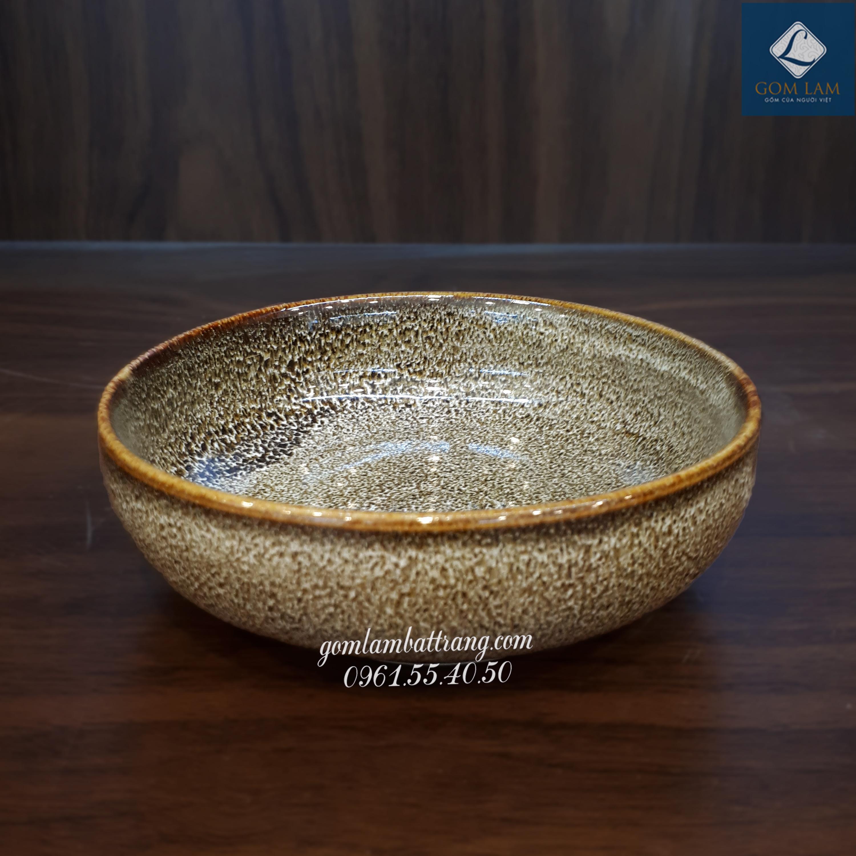 Bát súp men gấm vàng 1