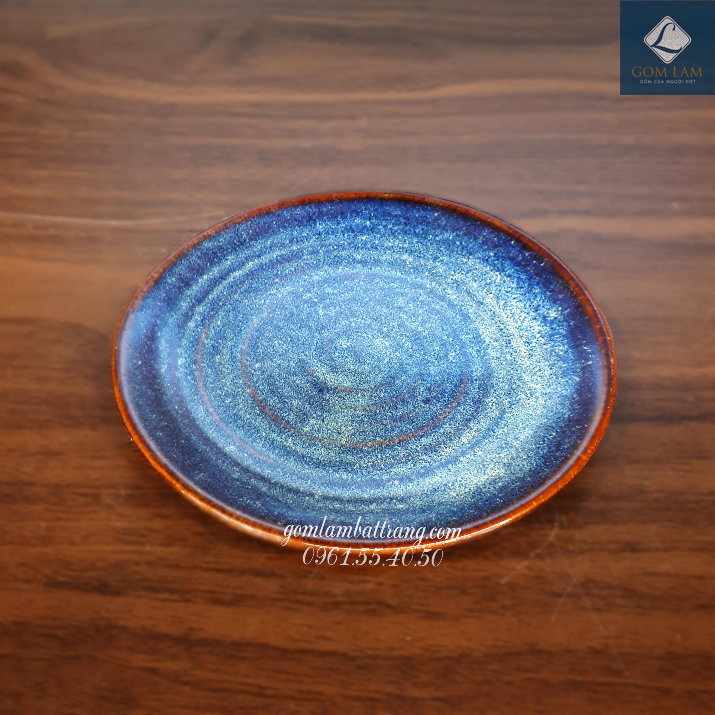 Đĩa tròn xanh biển P17