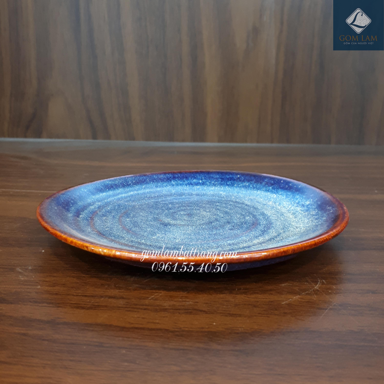 Đĩa tròn xanh biển P22