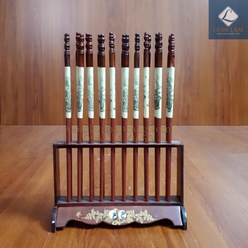 Đũa thờ 10 đôi xếp dọc